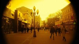 Calle Arbat, en Moscú. (Flickr)